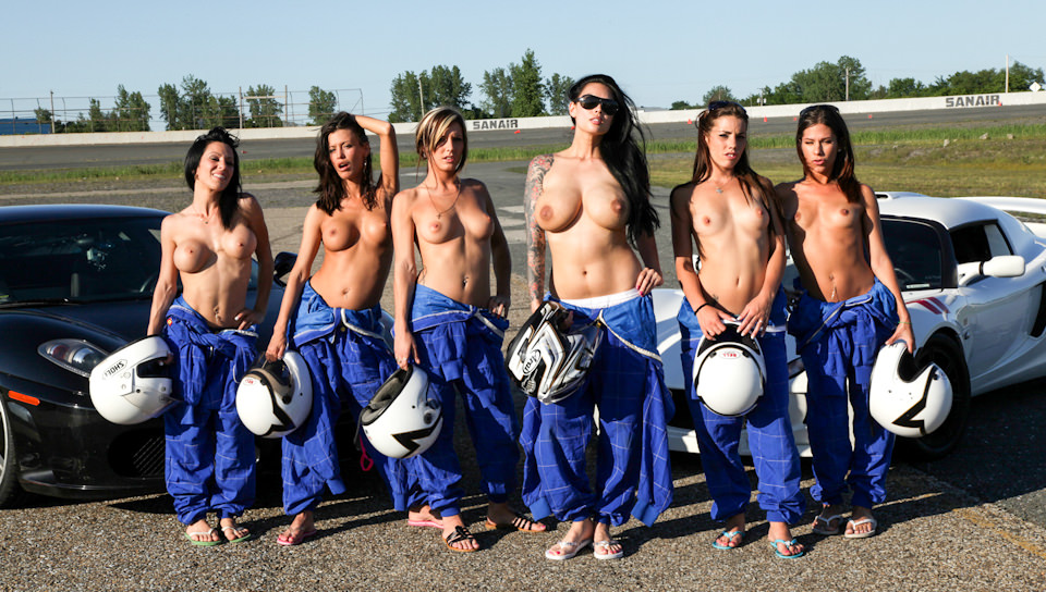 Hot whores incorporated - Busty racing team