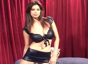 Black Latex Outfit Striptease Then Blowjob, Scene #01