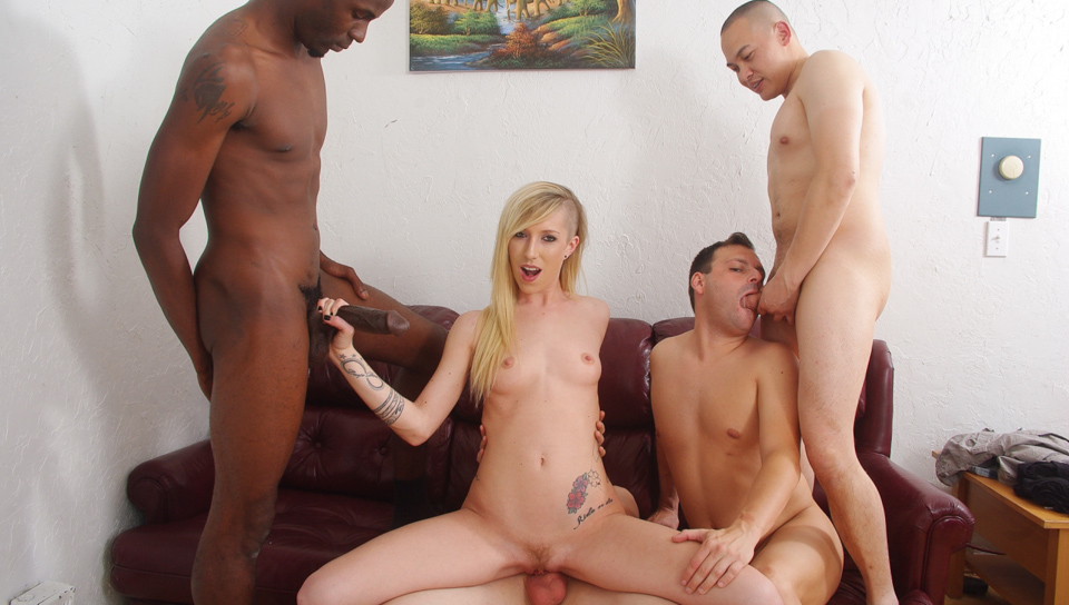 Interracial Gang Bang Dp