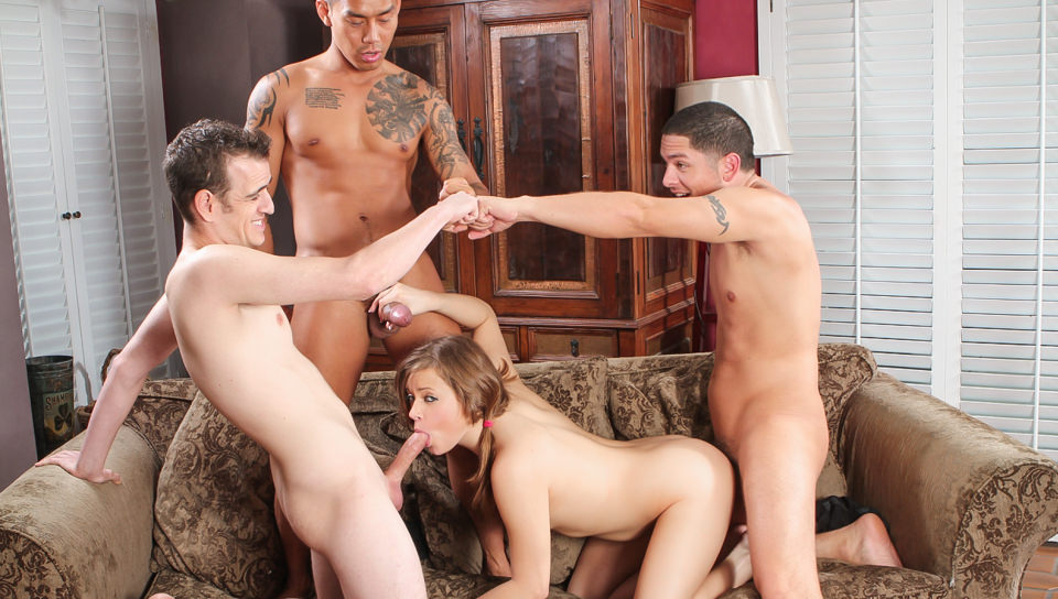Two Guys Fucking One Girl