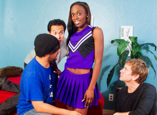 Black Cheerleader Gang Bang #26, Scene #01