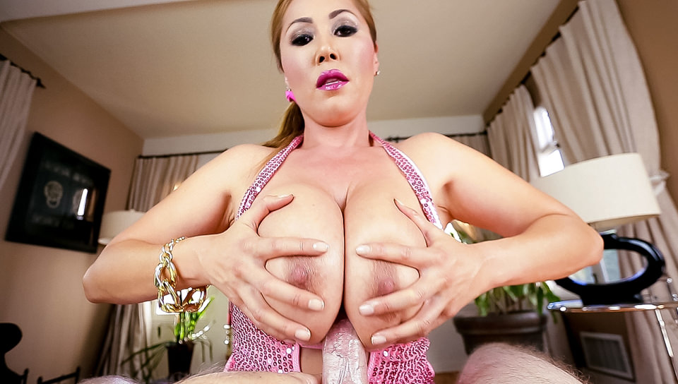 Kianna dior busty asian cumslut 02 scene 07. Slutty Asian MILF Kianna Dior lounges about, her heavy natural tits spilling out of a sparkly, skin-tight mini-dress. This glamorous bombshell wraps her massive hooters around director Jonni Darkko's throbbing cock and hungrily laps at his ball sack in a sensuous, POV-style cock sucking job. After working her experienced mouth up and down his shaft, Kianna gets her huge natural tits blasted with thick sperm.