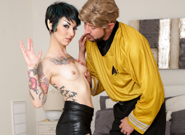 Trekkie love will powers rachel ravaged. Will Powers was ready to go to the comic book convention with Rachel Ravaged, his girlfriend - but she looked so exciting cosplaying as a gender-bending Spock that he became fully erect when she called him her captain and couldn't help it but help himself to her Vulcan geek pussy. That sweet round anus and out-of-this-world natural titties are registering nominal, and all systems are go - prepare for warp speed straight into her intergalactic porn. The convention could wait until 'Captain Kirk' made her ejaculate and blew his load faster than the speed of light onto her nice face.
