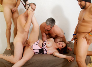 Bi cuckold gang bang 10 kiki daire chad diamond eric jover cesar agustus. Kiki Daire is a dirty girl but more than anything she likes to make her man feel like the total loser he is. Every Wednesday is her man's day off from work, so as the loving wife that she is that is the day she invites all of her have sexual intercourse buddies over to gang bang her as her loving man gets to watch whether he likes it or not! She makes him watch and help all the guys get cruel and have sexual intercourse her as she pleasures everyone but him.