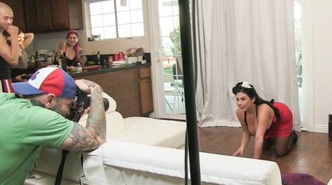 Bts episode 95 joanna angel jon jon small hands sheridan love nina elle isiah maxwell saya song dahlia sky. Sheridan Love was on set for her latest Burning Angel scene - her first boy/girl with us, in a voluminous Tit Pinup POV! She looked like such a perfect doll with excited and classic lingerie and her epic boobage. Blondie Dahlia Sky learns the finer points of a cheerleader carwash and what really brings the boys to the yard. We meet and chat with Asian BA newbie Saya Song and chat tattoos and more. Then we caught up with Nina Elle for her first BA shoot, another elegant addition to our voluminous Tit Pinup POV release!