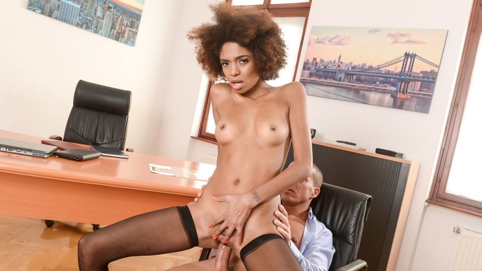 Interracial Office Orgasm, Scene #01