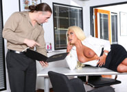 Big tit office chicks brandi bae. Slutty boss Brandi Bae fuck at work by a horny employee.