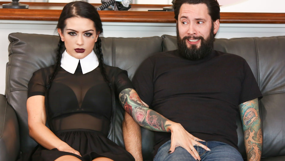 Very Adult Wednesday Addams - Katrina Jade, Scene #01
