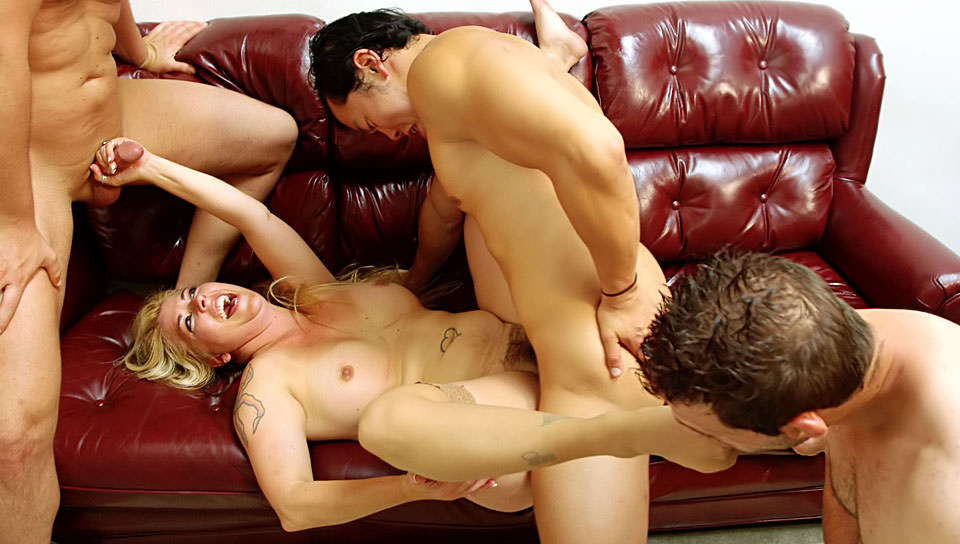 Busty wife Joclyn Stone fucked by a group